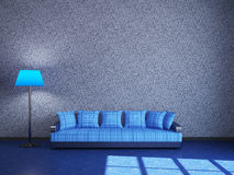 Sofa and a lamp Royalty Free Stock Image