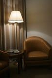 Sofa and lamp Stock Image