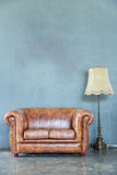 Sofa with lamp Royalty Free Stock Photo
