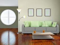 Sofa and lamp Stock Photos