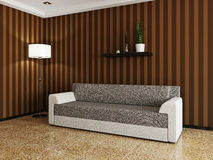 Sofa and a lamp Stock Image