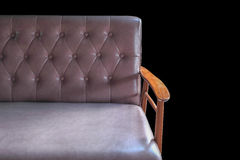 Sofa leather furniture isolated Royalty Free Stock Images