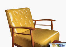Sofa leather furniture isolated Stock Image