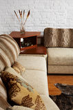 Sofa and little table Stock Photo