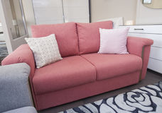 Sofa in liviing room of show home Stock Photo