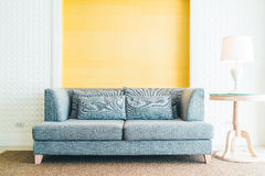 Sofa in living room. Sofa Decoration in livigin room interior - Filter effect Processing Royalty Free Stock Images