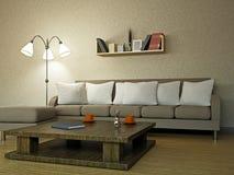 Sofa in the livingroom. Near the wall Stock Photo