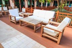 Sofa lounge area. Of the hotel Stock Photo