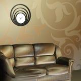 Sofa. max. Uhr 3d Stockfoto
