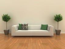 Sofa mit Anlagen lizenzfreie abbildung