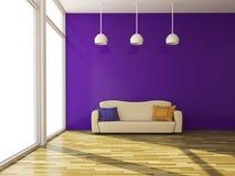Sofa mit Kissen Lizenzfreie Stockfotografie