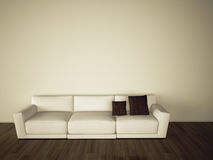 Sofa in modern comfortable interior Royalty Free Stock Image