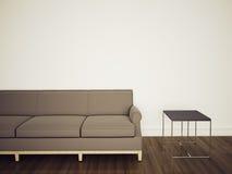 Sofa in modern comfortable interior. Modern comfortable interior, 3d image Royalty Free Stock Photos
