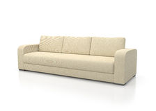Sofa Modern (Full Size is Fine - No Artifacts). Modern fabric sofa on white background Royalty Free Stock Photos