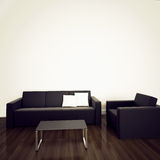 Sofa in modern interior with 3d rendering Royalty Free Stock Photography