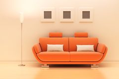 A sofa in a modern room Stock Photos