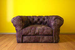 Sofa modern. Room with sofa purple skin Stock Photography