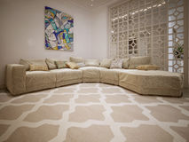 Sofa modern style Stock Image