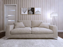 Sofa in a modern style upholstered Royalty Free Stock Images