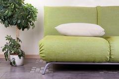 Sofa moderne avec la fleur dans un pot Image stock