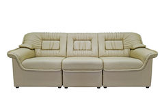 Sofa moderne beige Photo libre de droits
