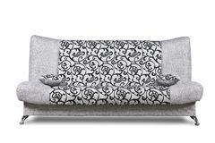 Sofa moderne d'isolement sur le blanc Photographie stock