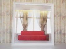 Sofa moderne dans la chambre, 3d Image libre de droits