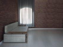 Sofa moderne dans la chambre, 3d Images libres de droits
