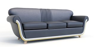 Sofa moderne sur le fond blanc Photo libre de droits