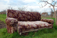 Sofa in nature. Put to rest after work Stock Photos