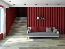 Sofa  near staircase Royalty Free Stock Photography