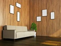 Sofa near the wall Stock Photography