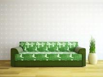 Sofa near the wall Royalty Free Stock Photography