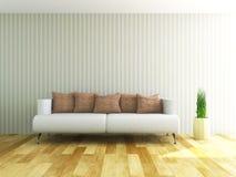 Sofa near the wall Stock Photo