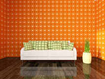 Sofa near the wall Royalty Free Stock Images