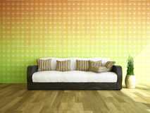 Sofa near the wall Royalty Free Stock Photo