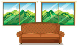 A sofa near the window Stock Image