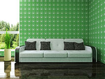 Sofa near the window Royalty Free Stock Photo