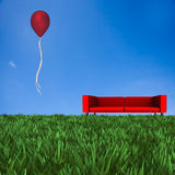 Sofa with nice background Stock Images