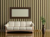 Sofa och växt Arkivbilder