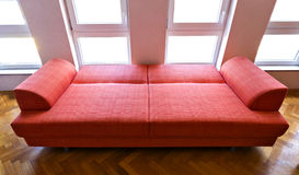 Sofa orange Photo libre de droits