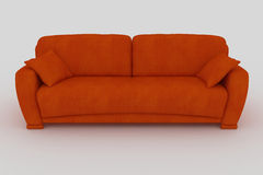 sofa orange Fotografia Royalty Free