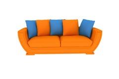 Sofa orange d'isolement Illustration Stock