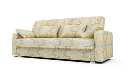 Sofa over white Stock Images