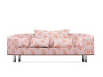 Sofa over white background Royalty Free Stock Photos