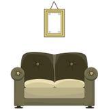 Sofa and painting Stock Photos