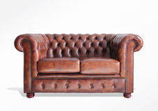 Sofa with path. On white background Royalty Free Stock Photography