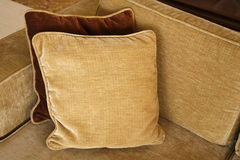 Sofa and pillow. A simple frame with sofa and a pillow Stock Photography