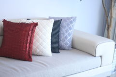 Sofa and pillow closeup Stock Photos