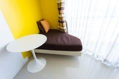 Sofa and pillow at corner Royalty Free Stock Photo
